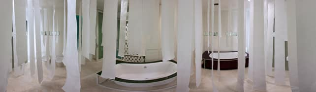 Panoramic view of Glass su IDFshowroom