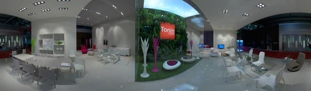 Vue panoramique de Tonin Casa sur IDFshowroom